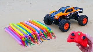 Experiment: Toy Truck vs Balloons