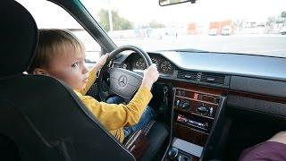 Дима за рулём Mercedes-Benz W124 E250 / Учимся ездить / Тест-Драйв by Dima