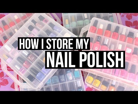 How I Store My Nail Polish!