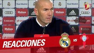 Rueda de prensa de Zidane tras el Real Madrid vs Celta de Vigo (1-2)