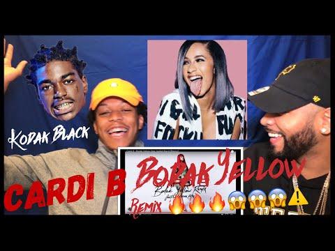 Cardi B - Bodak Yellow (feat. Kodak Black) [Remix] |FVO Reaction