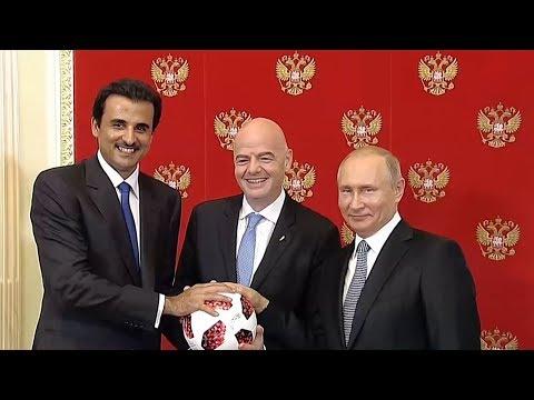 روسيا تسلم قطر شارة تنظيم كأس العالم  - نشر قبل 5 ساعة