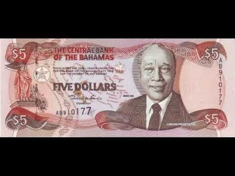 Paper money of the Bahamas is the Bahamian dollar - bills - bonistika