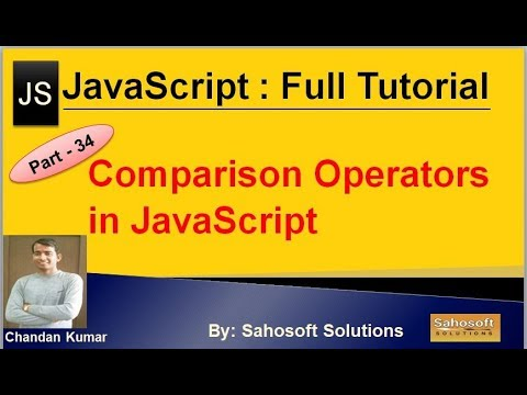 Comparison Operators  in JavaScript  : Part - 34 : JavaScript Full Tutorial in Hindi thumbnail