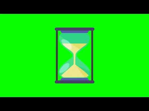 Sand Glass/песочные часы: анимированная иконка на хромакей