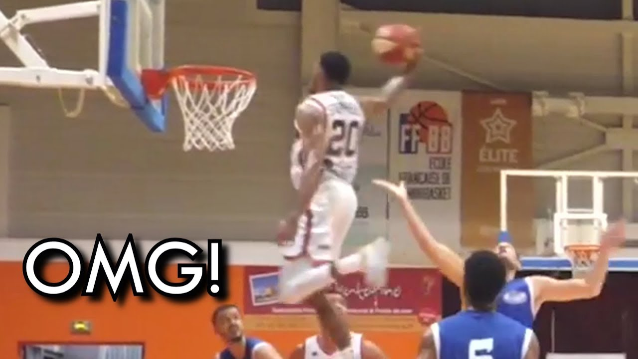 "OH MY GOD! DJ Stephens CRAZIEST PUTBACK DUNK I've seen! 46"" Vertical!"