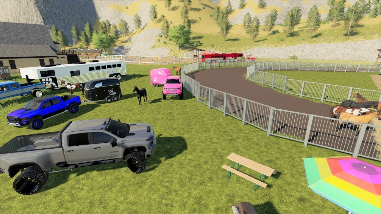 A day at the horse races gone bad   Ran out of hay and stuck in mud   Farming Simulator 19