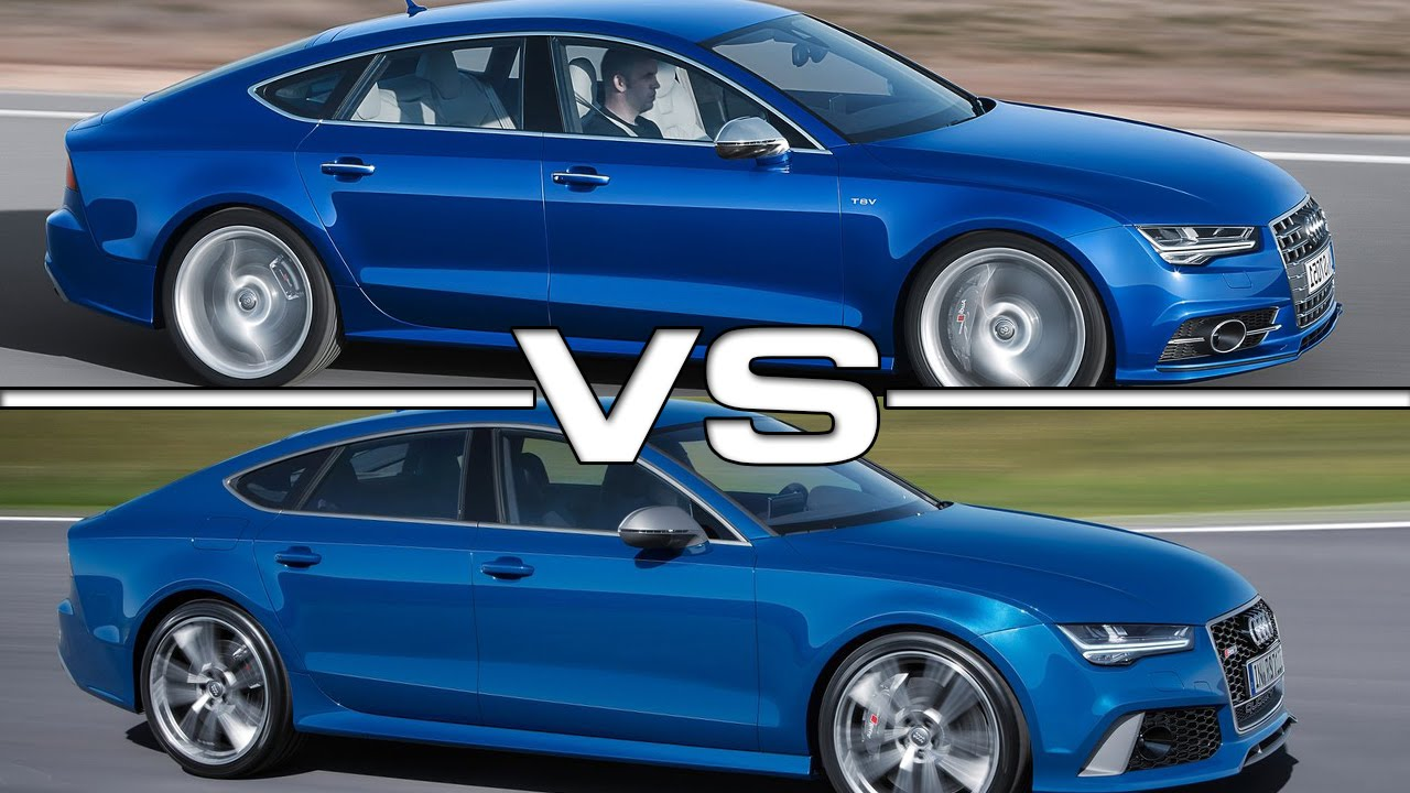 Audi S7 Vs Audi Rs7 Road Test Youtube