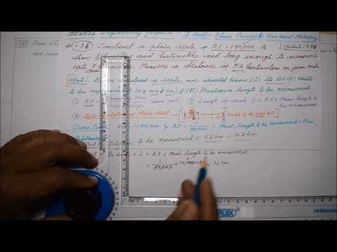 Construction of Plain Scale - M1.36 - Engineering Graphics in Tamil