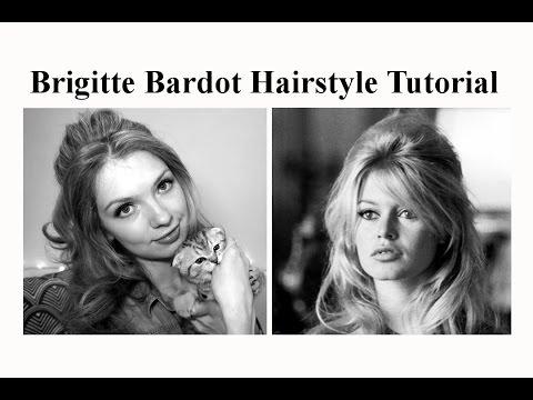 Прическа в стиле Бриджит Бардо ❥ Brigitte Bardot Hairstyle Tutorial