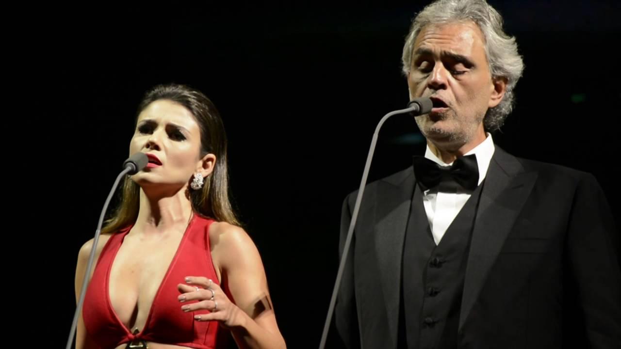 Andrea Bocelli Canta Com Anitta E Paula Fernandes Sao Paulo