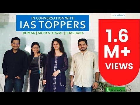 Roman Saini in Conversation with IAS 2016 Toppers: Artika Shukla, Shashank Tripathi, Gazal Bhardwaj