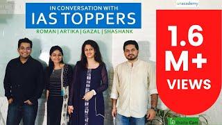 Roman Saini in Conversation with IAS Toppers 2016: Artika Shukla, Shashank Tripathi, Gazal Bhardwaj