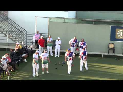 Atlantic Championships 9/12/15 England v Guernsey Mens Fours