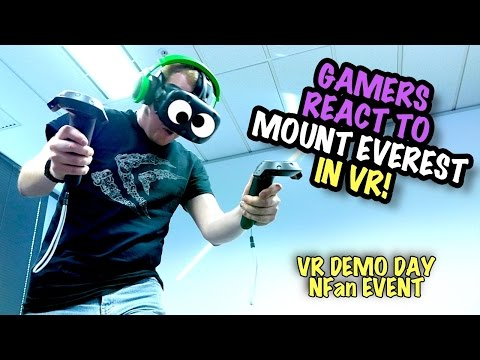 "Gamers React to VR ""Mount Everest"" Experience"