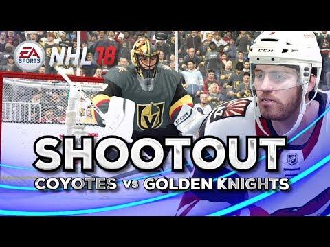 NHL 18 Shootout | Coyotes vs Golden Knights
