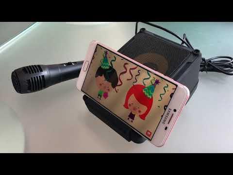 """KTV-013S      """"Boom Touch"""" Wireless Karaoke set"""