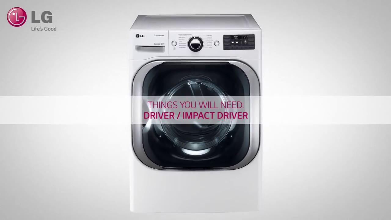 Lg Dryer Reversing The Door Youtube
