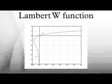 Lambert W function