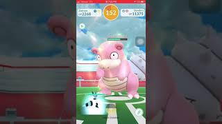 Pokemon Go - Tier 2 Slowbro Raid Solo w/ lv 30