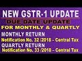 NEW GSTR-1 RETURN DUE DATE Notification No. 32 /2018 – Central Tax