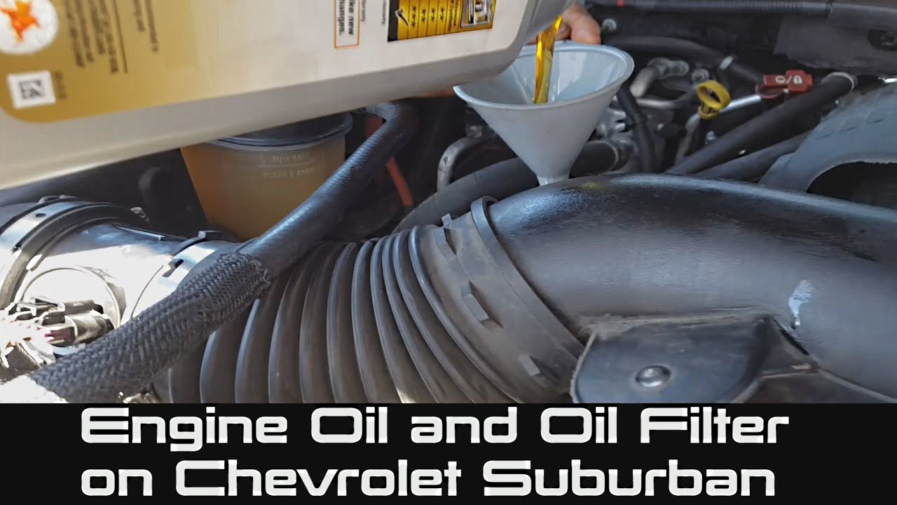 How to change engine oil and oil filter on chevrolet for Motor oil for chevy tahoe