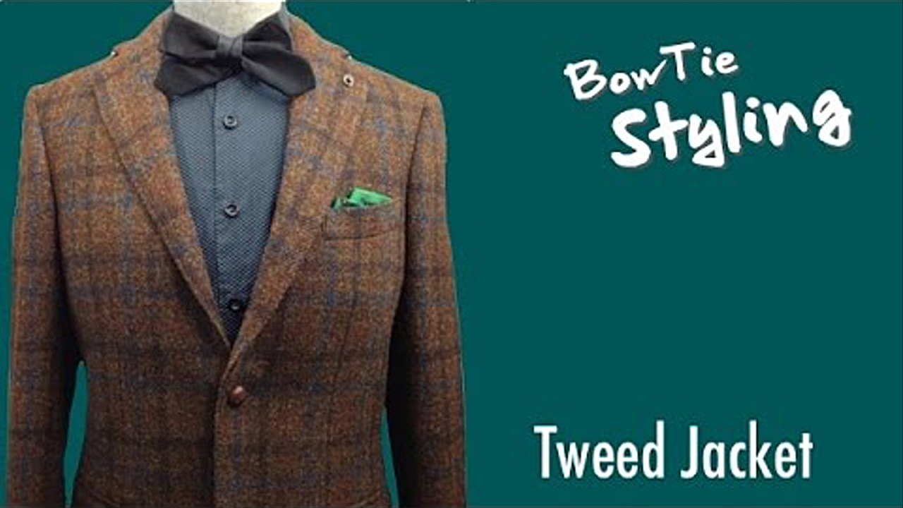 BowTie Style Tweed Jacket with BowTie/BOWTIE SPECIMENS - YouTube