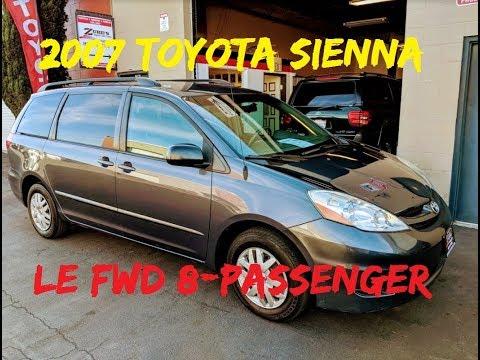 2007 Toyota Sienna LE 3.5L V6 Fwd 8 Passenger ***SOLD*** San Luis Obispo, CA