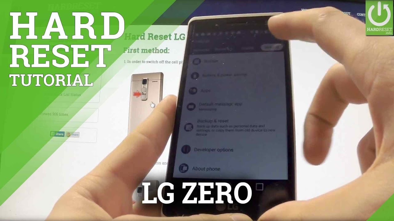 Hard Reset LG Zero H650E - HardReset info