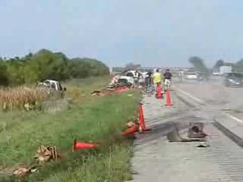 Fatal crash, I-35, north of Story City, Iowa
