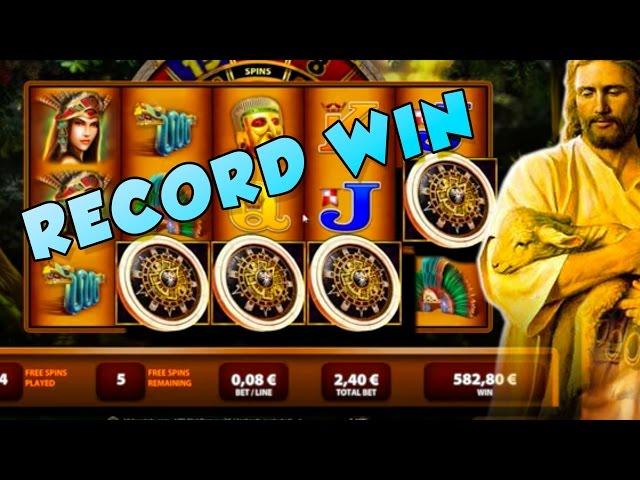 RECORD WIN MONTEZUMA BIG WIN JESUS GET A HUGE WIN