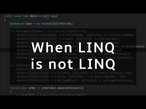 When LINQ is not LINQ
