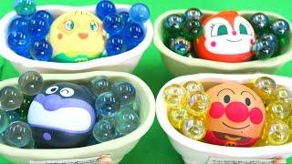 アンパンマン おもちゃアニメ Colorful Ball Bath Time カラフルビー玉 お風呂遊び アンパンマンボール