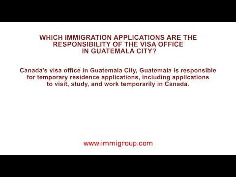 Which immigration applications are the responsibility of the visa office in Guatemala City?