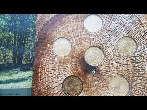 Армения Набор монет Дикие деревья 2014