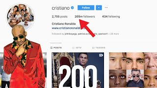 How has Cristiano Ronaldo hit 200 Million Followers on Instagram?