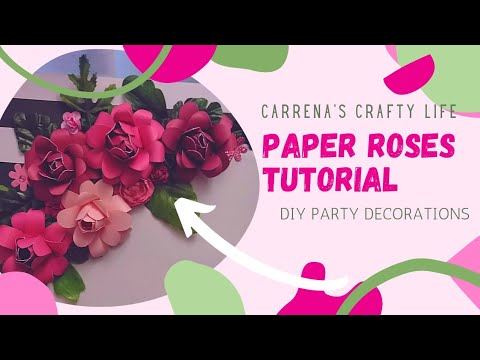 Paper Roses Tutorial | DIY Party Decorations