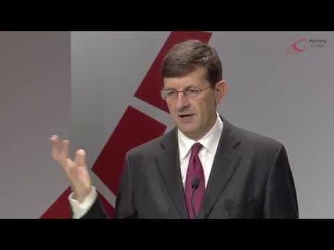 "Vodafone Group CEO Vittorio Colao at ""digitising europe"" summit of Vodafone Institute"