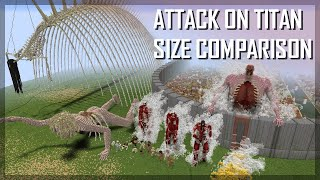 Attack on Titan size comparison 2021 (Final Chapter): ALL TITANS IN MINECRAFT 1:1