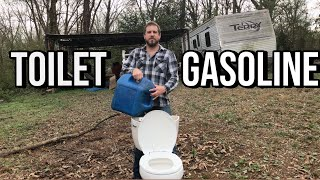 Fill a Clogged Toilet With Gasoline: Home Improvement tips with Uncle Rob