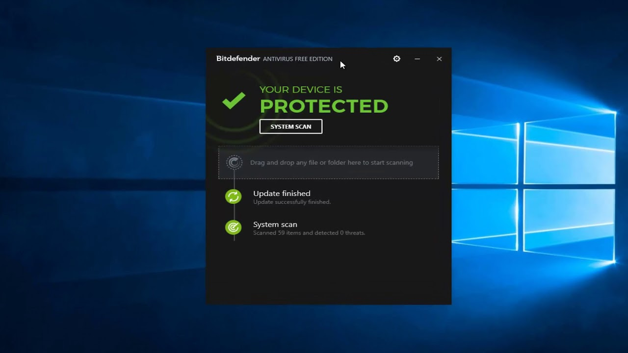 BitDefender Free Antivirus - How To Disable Real Time Protection