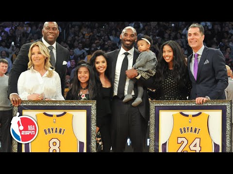 Kobe Bryant Lakers jersey retirement ceremony for No. 8 and No. 24 [FULL] | ESPN