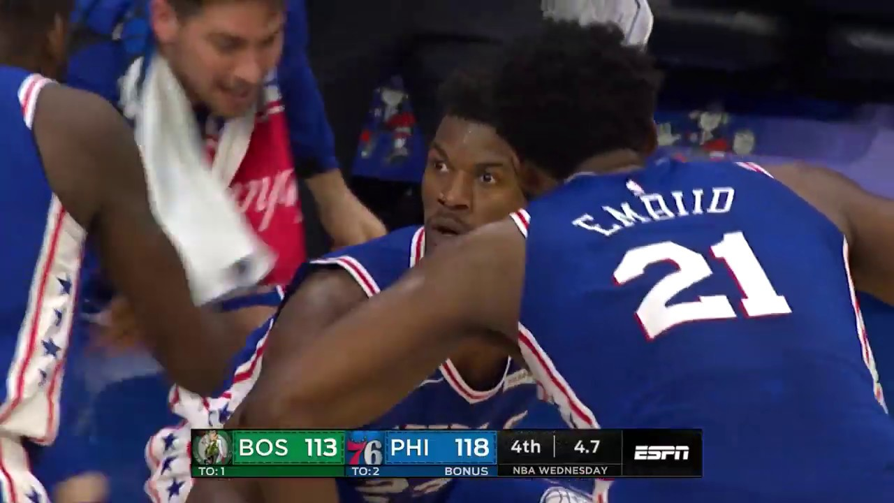 Jimmy Butler Has Priceless Reaction After Hitting Dagger To Beat Boston Celtics