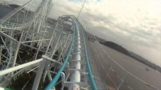 Surf Coaster Roller Coaster POV Front Seat Togo Sea Paradise Yokohama Tokyo Japan 1080p HD