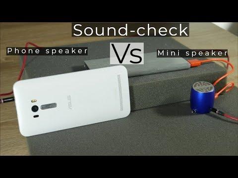 Smartphone built in speakers vs cheap portable speaker [sound test]