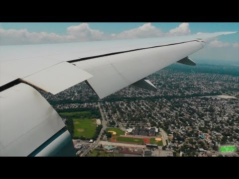 American 777-300ER Breathtaking Windy Landing at New York JF