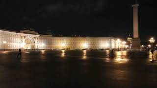 A journey to remember ! Palace Square Saint Peterburg Russia night view