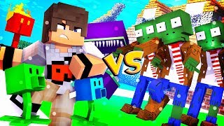PLANTA VS ZUMBI NO MINECRAFT!