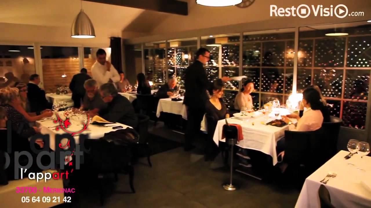 l 39 appart restaurant m rignac youtube. Black Bedroom Furniture Sets. Home Design Ideas
