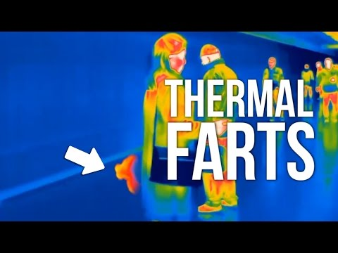 PEOPLE FARTING IN PUBLIC (thermal camera)
